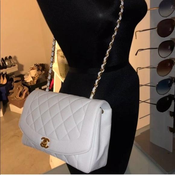3ec0a90f91ffbf CHANEL Bags | Sold Auth White Caviar Diana Single Flap | Poshmark